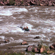 A private boat running Hance Rapid.