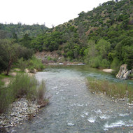 The South Fork of the Yuba River at the South Yuba River State Park.