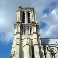 A view of the Notre Dame Cathedral from the South.