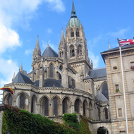 The cathedral in Bayeaux.