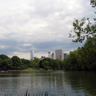 A lake in Central Park.
