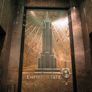 The foyer of the Empire State Building.