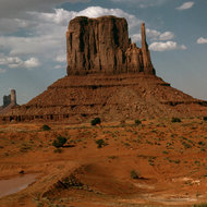 The East Mitten in Monument Valley, Arizona.