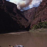 A fire above the Green River.