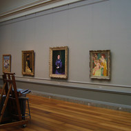 A view of the gallery where such paintings as Cassatt's
