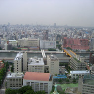 A view of Tokyo from a high-rise building.
