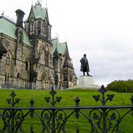 The East Block of Parliament Hill in Ottawa.