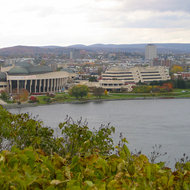 A view of the Canadian Museum of Civilization in Quebec from Parliament Hill in Ottawa.