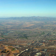 An aerial view of the Phoenix, Arizona region.