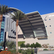 The Lied Library entrance at the University of Nevada, Las Vegas.