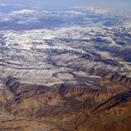 An aerial view of Colorado.