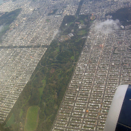 An aerial view of Golden Gate Park, San Francisco.