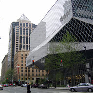 A view of the Seattle Public Library.