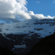 Some of the mountains surrounding Lake Louise in Banff National Park.