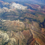 The Rocky Mountains in Colorado.