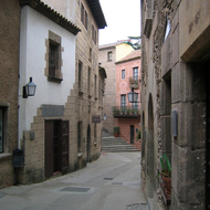 A street in the Poble Espanyol.