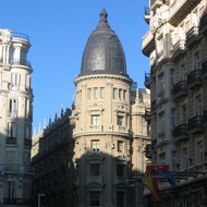 Interesting buildings in downtown Madrid.