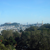 A view of San Francisco from the tower of the DeYoung Museum.