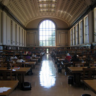 The Main Library reading room at the University of California, Berkeley.
