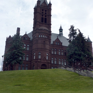 The John Crouse College of Fine Arts Building, constructed in 1888 on the Syracuse University campus.