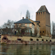 One of the guard towers of Strasbourg.