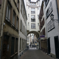 A street in old town Strasbourg.