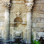 The Rimondi Fountain in Rethymno, Crete.