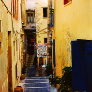An alleyway in Chania, Crete.