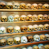 The Sacristy of Meteora, the skulls of previous residents of the monastery.