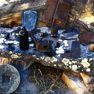 Various artifacts at Bass Camp in the Grand Canyon.