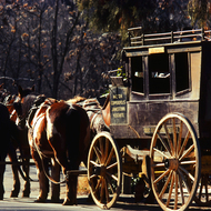 A stagecoach in Columbia State Historic Park.