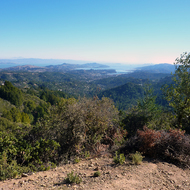 A view of northern San Francisco Bay from Mt. Tamalpais.