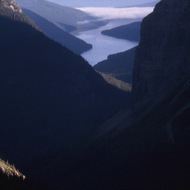 A view of Bowman Lake in Glacier National Park.