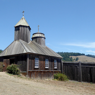 The Russian Orthodox Church at Fort Ross State Historic Park.