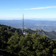 A communication tower on Mount Diablo.
