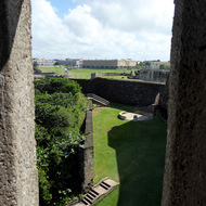 A view of the grounds of the San Felipe del Morro Fortress, on Punta del Morro.