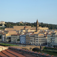 A section of Florence across the Arno River from the main city.