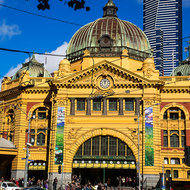 Melbourne icon, Flinders Street railway station.