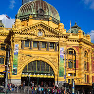 Meeting point: under the clocks at Flinders Street railway station.
