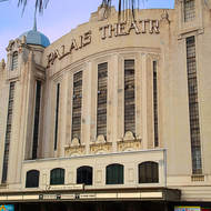 The old Palais Theatre on the St Kilda beach front.