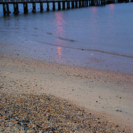Port Melbourne pier, early morning low tide.