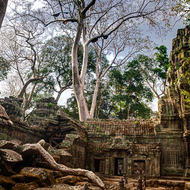 North eastern courtyard between Ta Prohm enclosures III and II.
