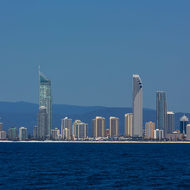 High-rises along the Surfers Paradise beach.