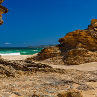 Southern view towards Nambucca Heads from England Rock.