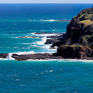 View south from Lennox Head to Skennars Head.