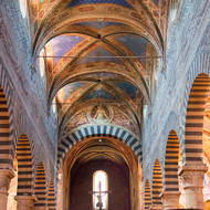Inside the Duomo of San Gimignano.