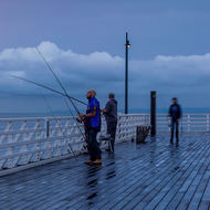 Early morning anglers trying their luck.
