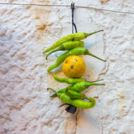 Lemon and chillies, keep evil at bay.