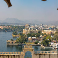 Lake Pichola from high in city Palace.