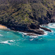 Rocky point at southern end of Noosa National Park.